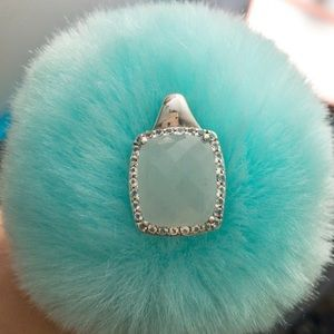 Jewelry - 925 sterling silver Aquamarine with CZ necklace